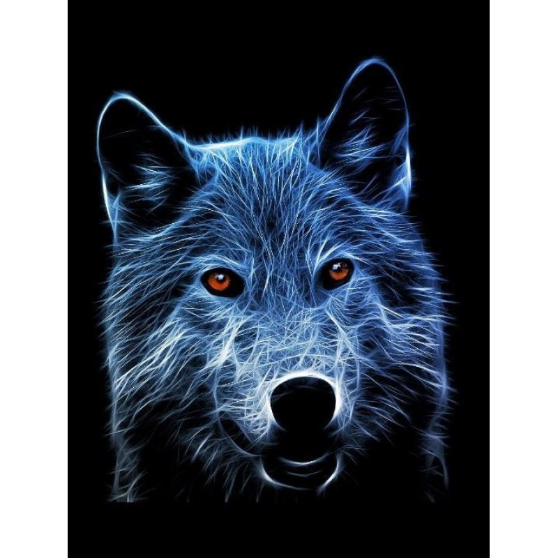 Amazing Wolf with Or...